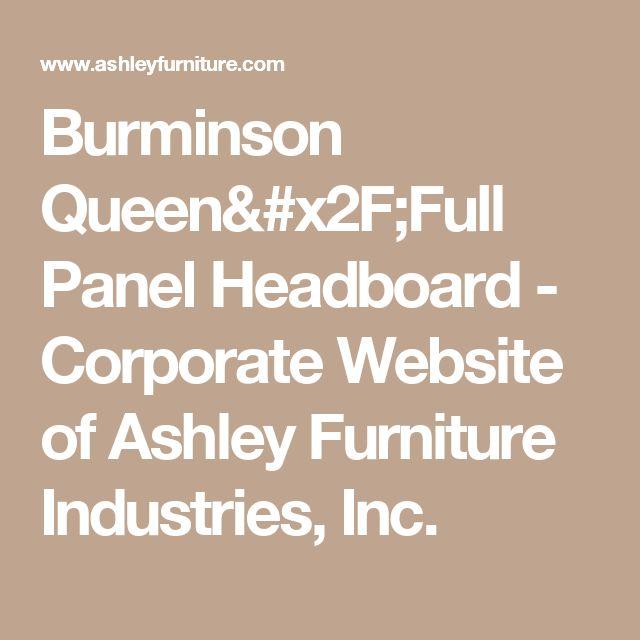 Burminson Queen/Full Panel Headboard - Corporate Website of Ashley Furniture Industries, Inc.