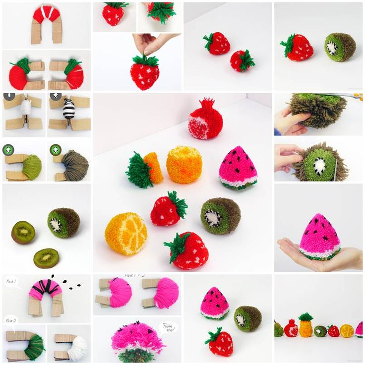 DIY Fruit Pom Poms https://www.facebook.com/icreativeideas