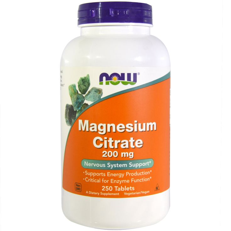 Now Foods, Magnesium Citrate, 200 mg, 250 Tablets 16,32