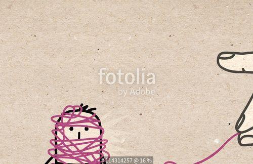 """""""Big hand - untangling"""" zdjęć stockowych i obrazów royalty free w Fotolia.com…"""