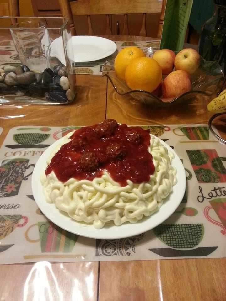 spaghetti and meatballs cake | My Cakes | Pinterest
