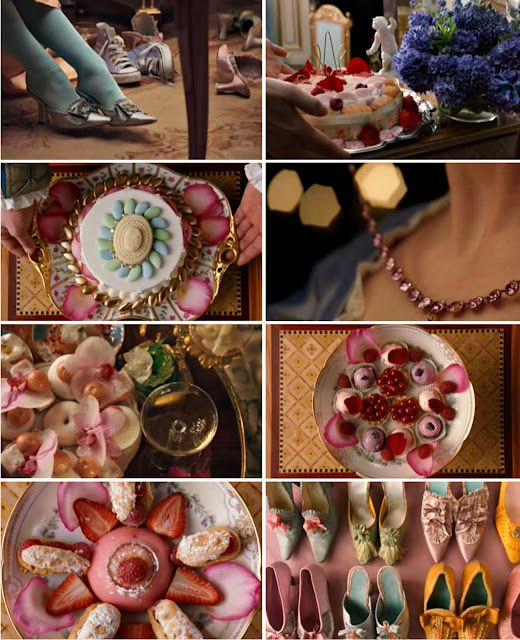 Marie Antoinette movie scenes. I love how the top left has her converse sneakers. I don't think they had those back then lol