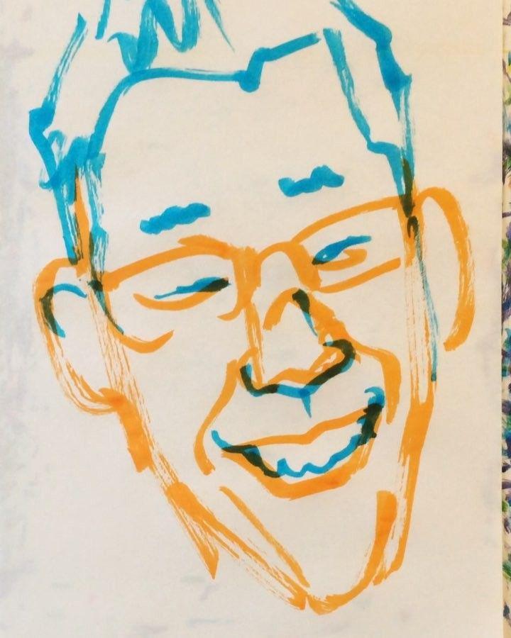 いいね!27件、コメント1件 ― @1mindrawのInstagramアカウント: 「#shoufukuteishouhei #笑福亭笑瓶 #落語家 #comedian #コメディアン #19561107 #birthday #1mindraw #一分描画 #誕生日…」