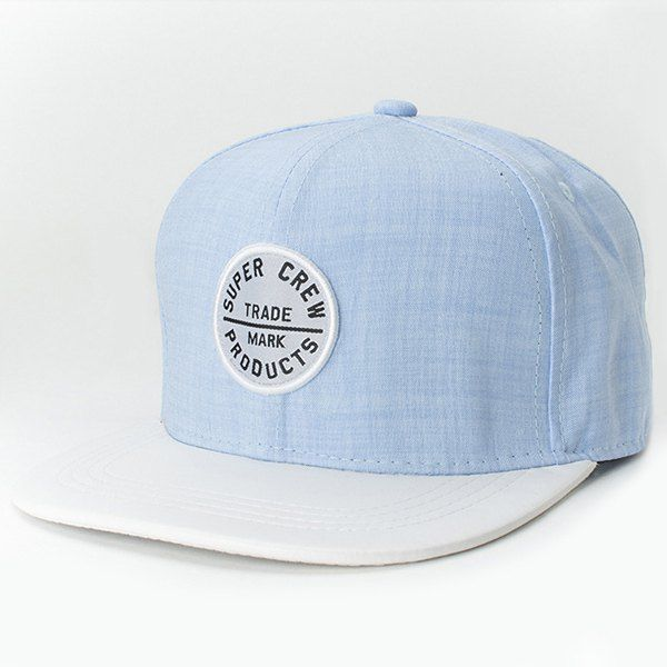 Chic Letters Round Embroidery Fresh Summer Style Women's Baseball Cap #women, #men, #hats, #watches, #belts, #fashion