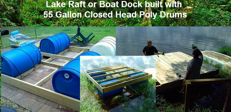 Use to build a dock or lake raft uses for jugs buckets for Pallet boat plans