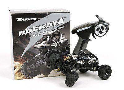 ﹩120.00. RTR 1/24 RC Trail Truck 4-WHEEL STEERING 4WD Micro Rock Crawler Mini 4x4 Trekker   Type - Rock Crawler, Fuel Source - Electric Lipo Powered, State of Assembly - Ready-to-Go, Scale - 1/24, Year - 2017, Recommended Surface - Off-Road, 4WD/2WD - 4WD, Color - Black, Fuel Type - Electric, Product Line - Rock Crawler Trail Truck, Motor Type - Brushed, Required Assembly - Ready to Go/RTR/RTF (All included), Replica of - Toyota Losi Trail Trekker, Material - Metal, Characteristics - Rar