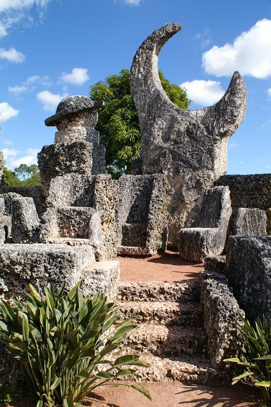 Coral Castle Miami, FL. Built by one modern day man who knew the secrets of Stonehenge but didn't know how to SHARE! Quite remarkable.