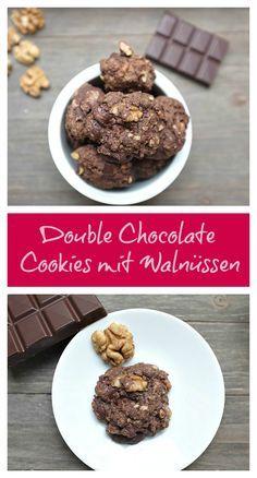 Super fixe Double Chocolate Cookies mit Walnüssen - Ein Keks mit doppelt Schokolade kann doch nur gut werden, oder?