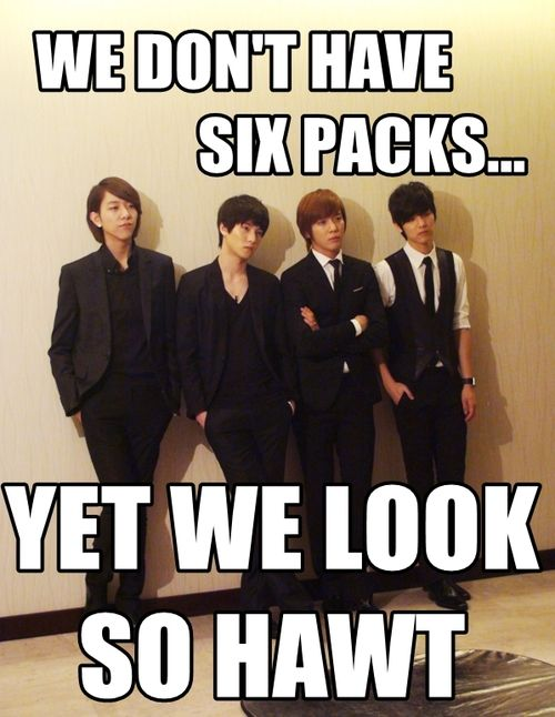 CNBlue Macros. Never seen em with shirts off..... You don't have to bare your body to look good.