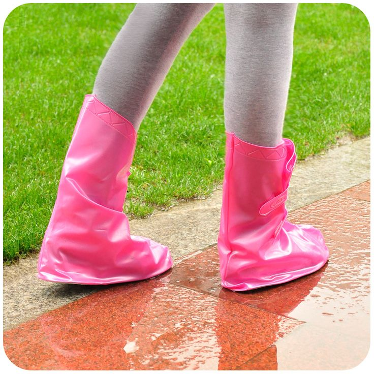 Lolita Fashion male Women rainproof shoes cover adjustable flat heel high-heeled waterproof shoes cover slip-resistant  custom 6.90