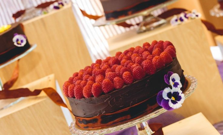 Chocolade-frambozentaart