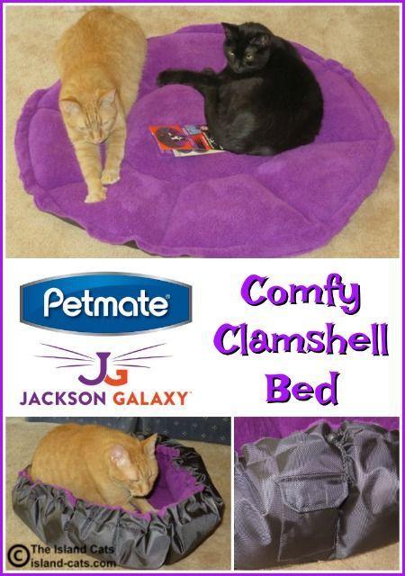 Petmate jackson galaxy comfy clamshell bed things we for Petmate jackson galaxy