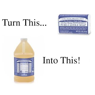 turn bar soap to liquid soap, dr bronners to liquid soap,