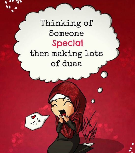 Thinking of someone special then make lots of duaa :-)