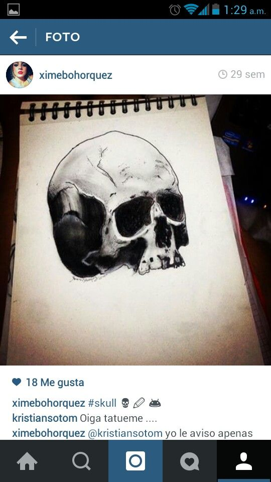 #skull #charcoal #art #draws #tattoodesign #ximenabohorquez