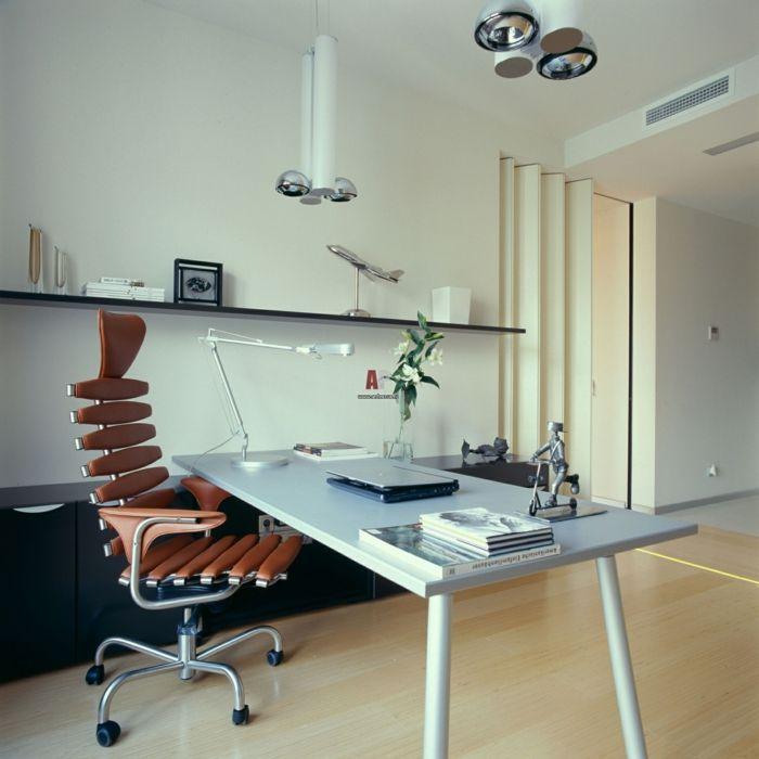 Ergonomischer Bürostuhl Bueroeinrichtung Modern Schreibtisch Wandregale