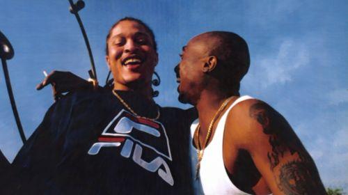 Tupac Shakur with Yaki Kadafi.Yaki was killed a year after Tupac.May they both R.I.P <3 <3