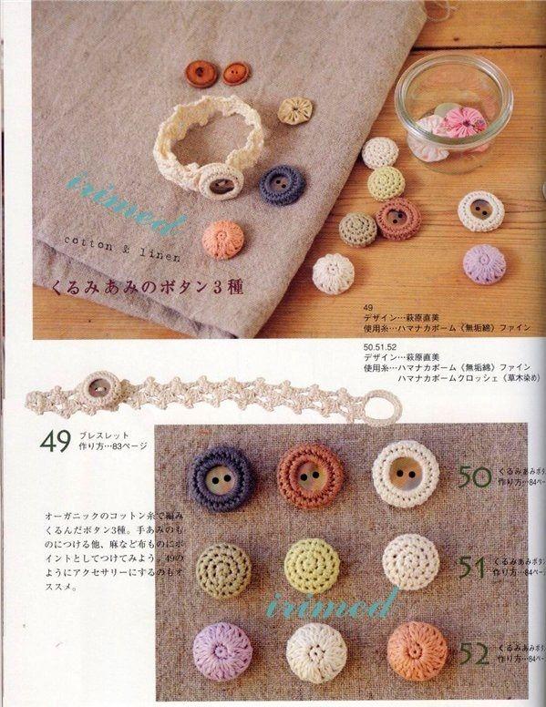 Patrones para Crochet: Botones de Crochet para Crochet