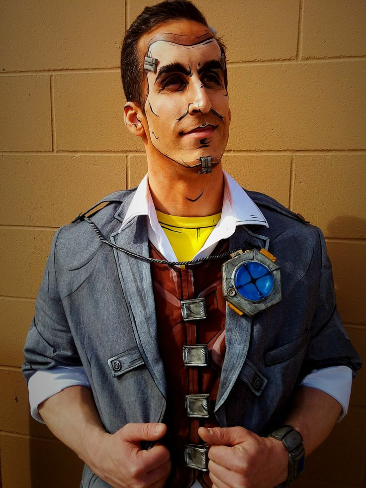 Handsome Jack cosplay. Calgary Comic-Con 2014. Made by Sarah Slaughter.