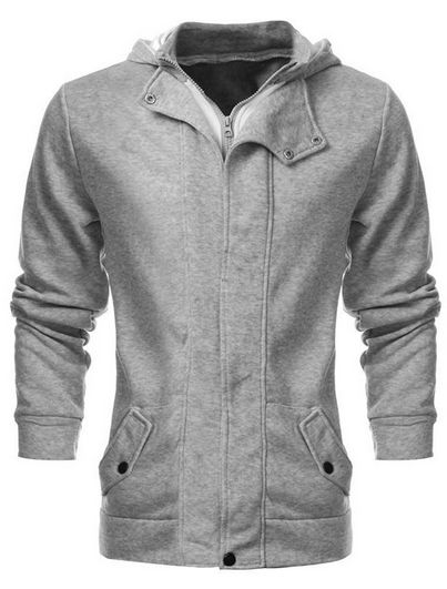 Men's Long Sleeve Zip Down Hoodie