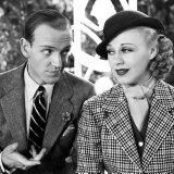 Pin Still of Fred Astaire and Ginger Rogers in Top Hat (1935) Poster