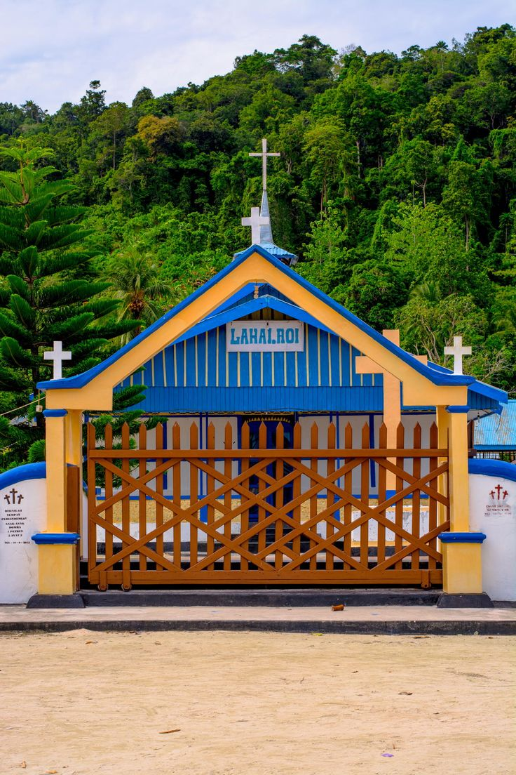 Church on Selpele Village, Raja Ampat archipielago, New Guinea, West Papua, Indonesia / by Roy Singh
