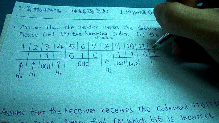 計算機概論_偵錯碼_1.漢明碼(hamming Code)
