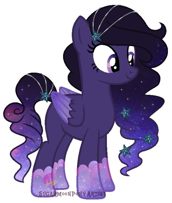 Galaxy swirl is 14 and the older sister of Harvest Moon. She is a very determined pony, and a student of Princess Luna. She loves to help Princess Luna in any way and studies hard. Adopted by Lexi Littrell.
