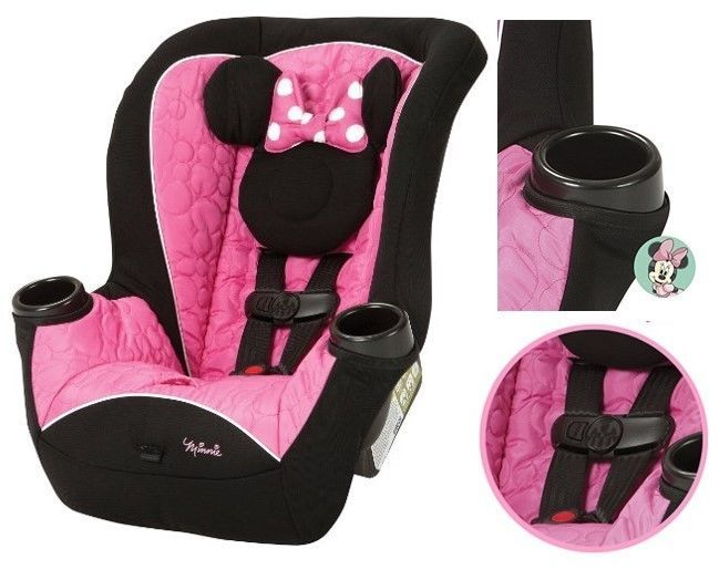 Convertible Car Seat Minnie 5 - 40 Lbs Rear Forward Kids Baby Girl Toddler Seats #ConvertibleCarSeat