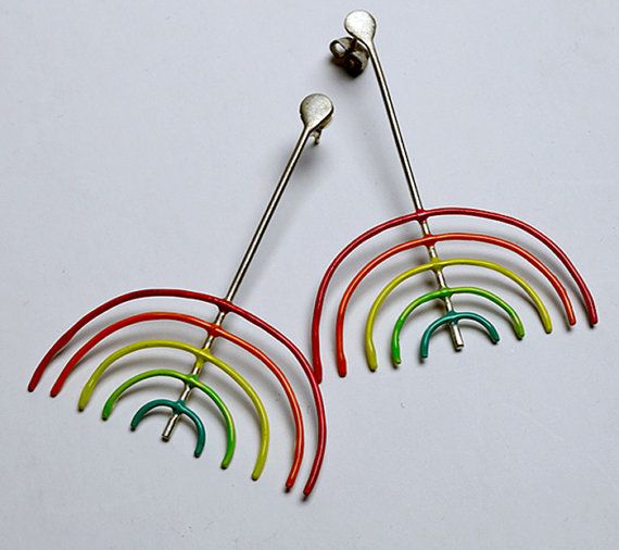 Sterling silver 925 colorful earringshand madehand by atermono