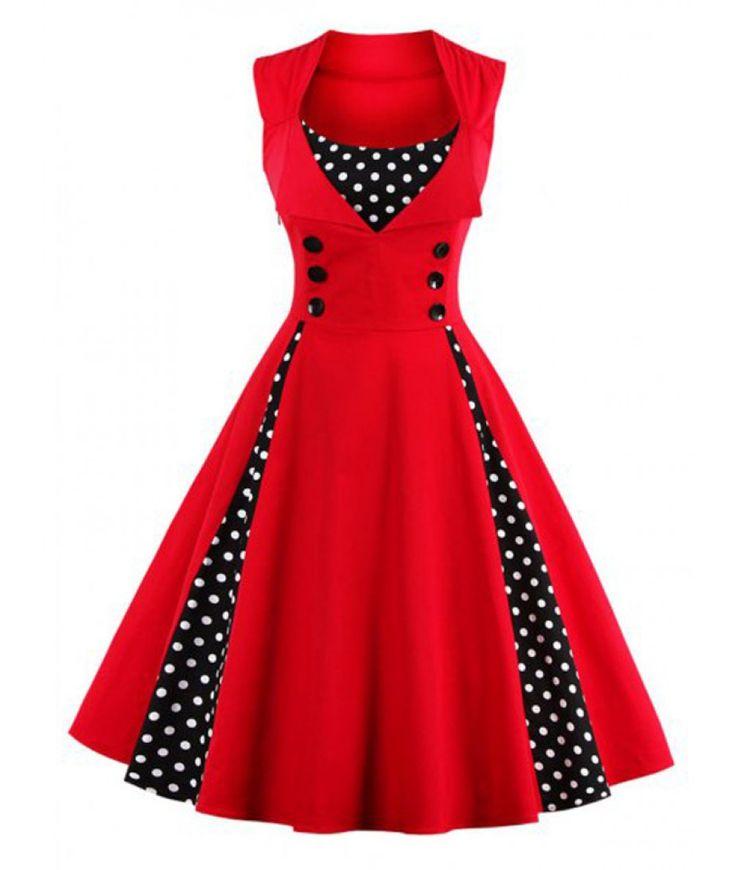 Midi Polka Dot Prom Dress