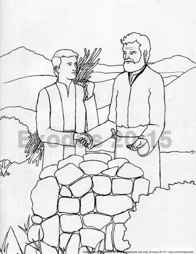 abraham and isaac sacrifice coloring pages | 68 best images about Spiritual Crafts on Pinterest ...