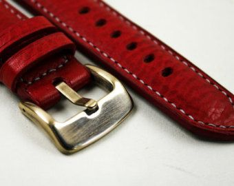 Handmade racing/rally sports leather strap. от OurTreasuredChest