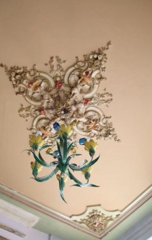"""This lovely chandelier is from our feature """"Cool and Collected"""""""