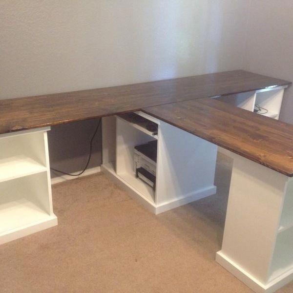 Adjustable Storage Desk Black Room Essentials With Images Office Furniture Diy Home Office Design Large Desk