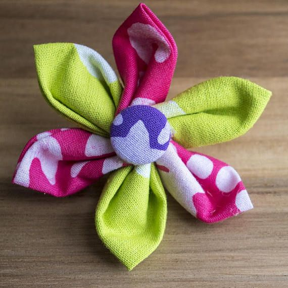 African fabric lapel pin for ladies women's pink flower