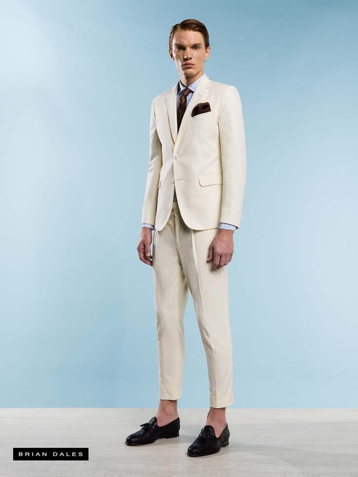 #BRIANDALES #MAN #COLLECTION #SS2016, single-breasted suit with pants tight and short to the ankle.