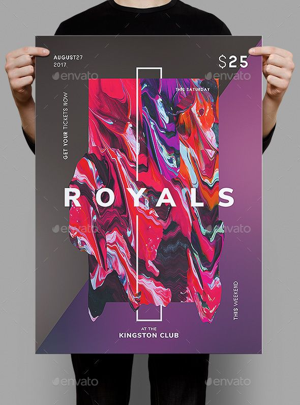 Royals Flyer / Poster Template — Photoshop PSD #club #bride • Available here ➝ https://graphicriver.net/item/royals-flyer-poster-template/20535088?ref=pxcr