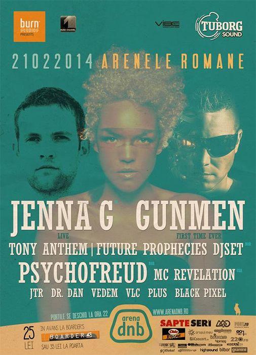 Jenna G / Gunmen / Psychofreud / Tony Anthem / Future Prophecies / MC Revelation – Arena Dnb