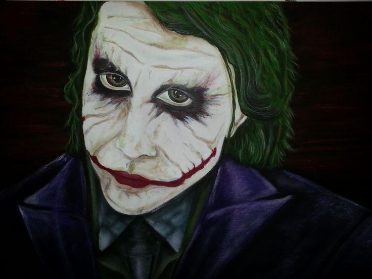 "My latest painting of ""The Joker"" Acrylic on canvas"