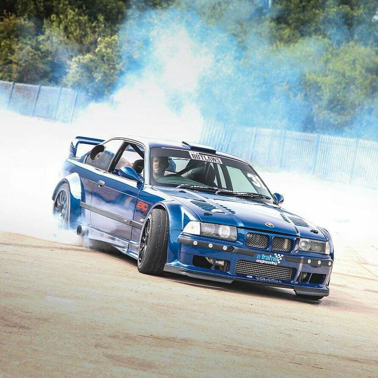 BMW E36 M3 Blue Widebody Smoke Show