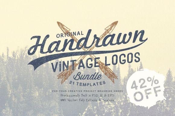 Hand Drawn Vintage Logos Bundle by Yusof Mining on Creative Market
