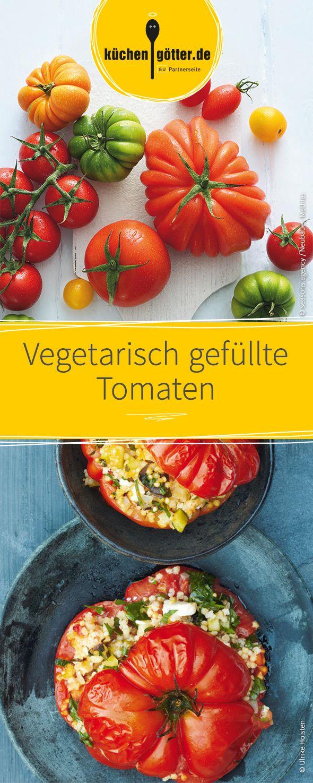 Das perfekte Gericht für das nächste Barbecue: Diese vegetarisch gefüllten Tomaten! Rauf auf den Grill.
