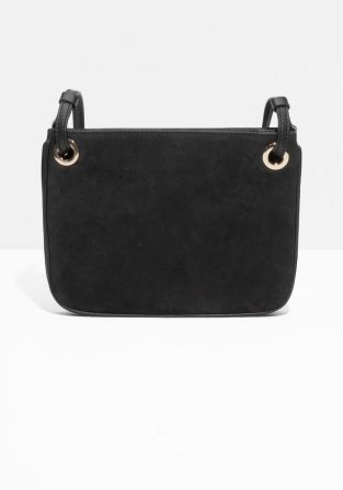& Other Stories   Eyelet Leather Shoulder Bag