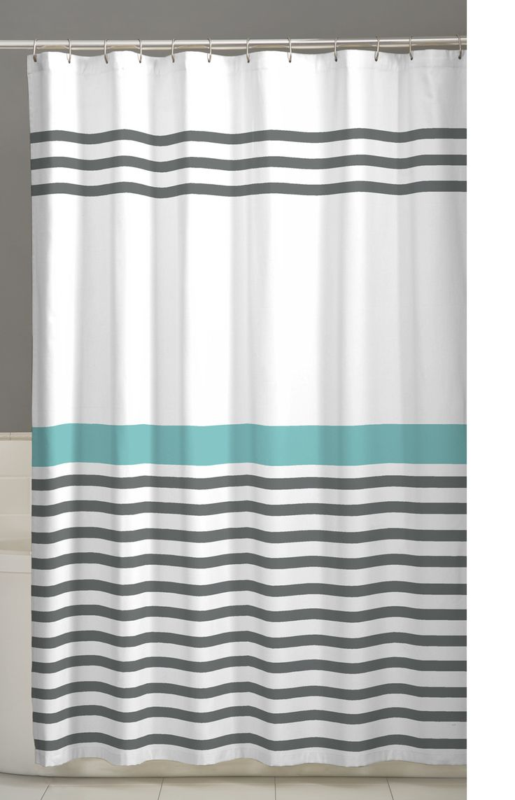 Black and white monogrammed shower curtain - Maytex Simple Stripe Fabric Shower Curtain 70 X 72 Inch Striped