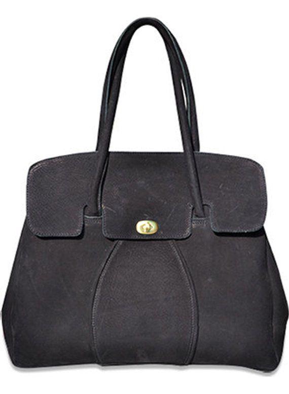 83be92400a3e Depster's Florence. Hand made luxury leather shoulder bag in black suede. # bag #shoulderbag #laptopbag #realleather #leather #suede #madebyhand  #handmade ...