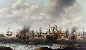 Jean Bart: Attaque hollandaise sur Madway, juin 1667, par Pieter Cornelisz van Soest, peint v 1667- Le 22 mai 1689, il est fait prisonnier lors d'un combat contre de puissants vaisseaux anglais, mais il s'échappe de sa geôle de Plymouth et reçoit à son retour en France une commission de capitaine de vaisseau. C'est à ce titre qu'il participe, sous le commandement de Tourville, à la bataille de Béveziers (1690).