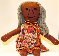 Handmade Aboriginal Doll Aboriginal Elder Woman  handmade in Australia designed by Nola Turner-Jensen (Wiradjuri)  comes with Wiradjuri name size:  38cm  Price:  $60.00 each