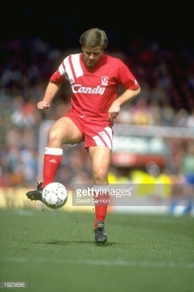 Jan Molby of Liverpool in action during a Barclays League Division One match against Manchester United at Anfield in Liverpool England Liverpool won the match 20 Mandatory Credit David Cannon/Allsport