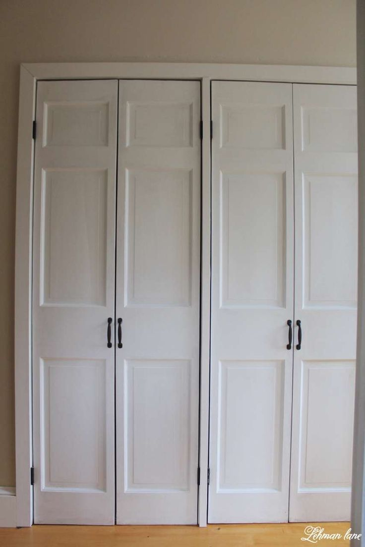 Diy Closet Door Makeover Bi Fold To Hinged Diy Closet